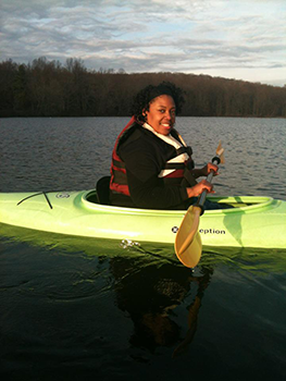 Stacey-Kayaking